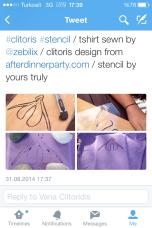 Clitoris Stencil on Twitter